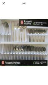 Brand new boxed Russell Hobbs Fusion 48 piece cutlery set