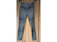 Top Shop Black and White Check Leggins Size 12