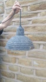 Vintage Antique Industrial Style Metal Shade Factory Light Fitting Pendant Black Ceiling