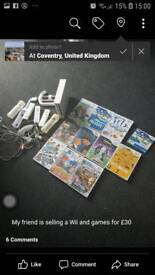 Wii console and 11 games