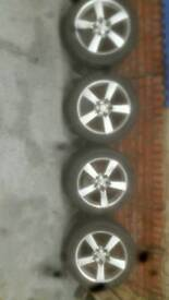 4 x mazda rx8 wheels with 2 months old tyres 18 inch