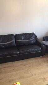 5 piece italian designer leather sofa