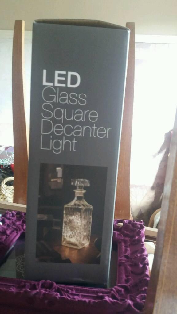 New glass decanter light
