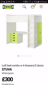 Ikea Stuva Bed set with cupboard