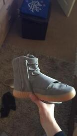 Grey gum yeezys 750 hi tops