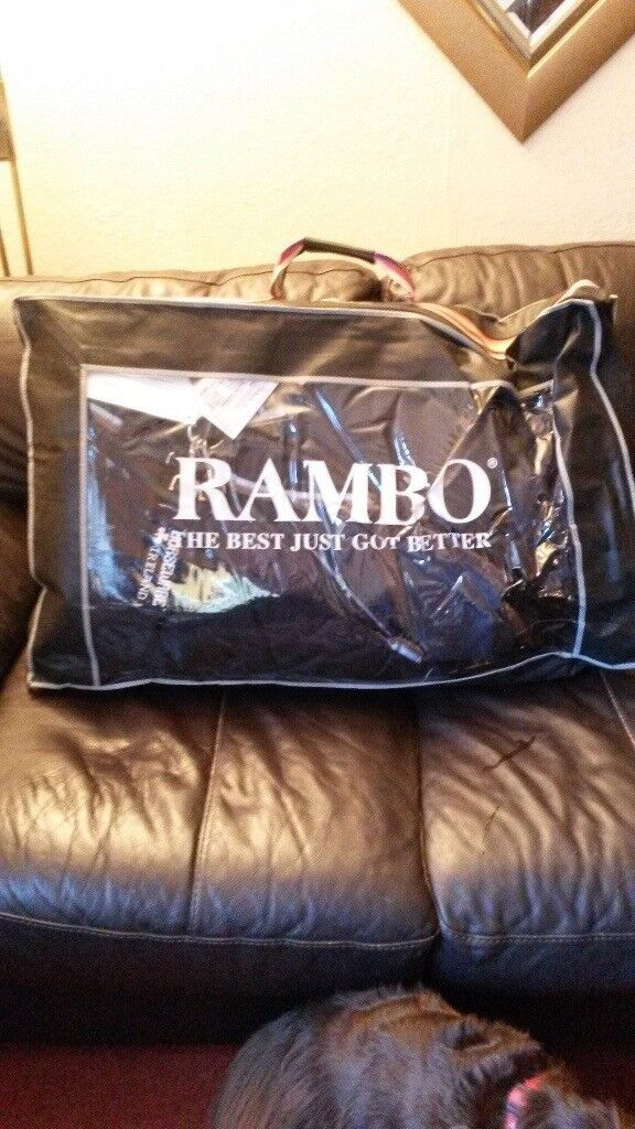 """Rambo Duo turnout rug 6'3"""" Brand new with tags and in bag. brown. £250 new"""