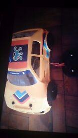 Petrol radio control car