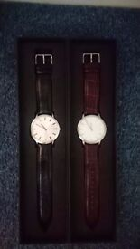 2 x Gaxs designer Men's watches