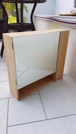 Bathroom Cabinet/ Wooden Mirror Door Wall Mountable Shelf Cupboards