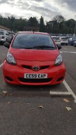 2010 (59 Reg) Toyota Aygo Hatchback, manual, Petrol, 998cc Clean £20/Yr Road Tax