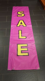Outdoor SALE banner sign