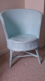 Duck egg tub wicker loom chair vintage
