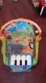 FisherPrice play mat with piano and dangling toys £10