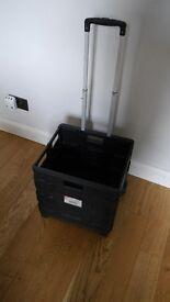 Camping Jumbo Trolley on wheels, Washing Bowl Stand, plate rack & tray