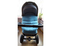 pram pushchair stroller buggy 3 in1 from Baby-Merc + car seat included!