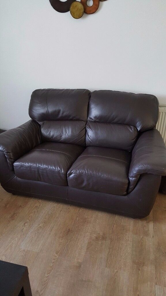 two seater and three seater 100% leather couches