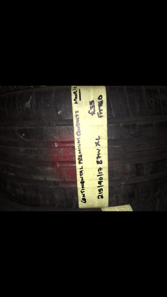 215/40/17 87W XL CONTINENTAL PREMIUM CONTACT2 tyre