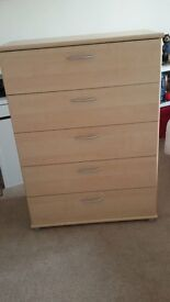 5 Draw Tall Chest in Beech from Dansk Design