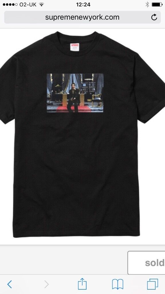 Supreme Scarface Friend T-shirt in black size medium