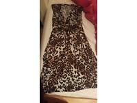 Size 8 leapord print dress