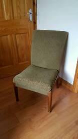 Parker knoll nursing chair original vintage fabric wooden legs fantastic condition