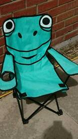 Kids Frog camping chair