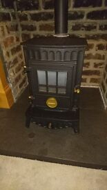 Aga Rayburn Coalbrookdale GS1i Little Wenlock cast iron gas stove/fire. Solid fuel look 3.95kw