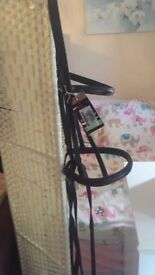 Bridle Extra-Full size Havana Brown with rubber reins bnwt