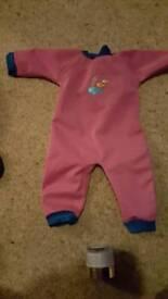 Girls 3-6 months wetsuit