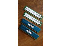 PC Computer Memory DDR3 2x4g 1333 and DDR3 2x4g 1600