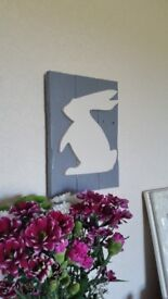 Hand made 3D STAG &BUNNY SIGN