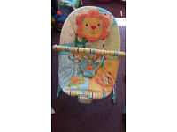 Musical baby bouncer (£15)