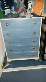 REDUCED PRICE Chest of drawers and 3 drawer bedside table