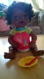 Extremely rare African American talking and feeding Baby Alive doll