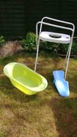 Baby bath tub set
