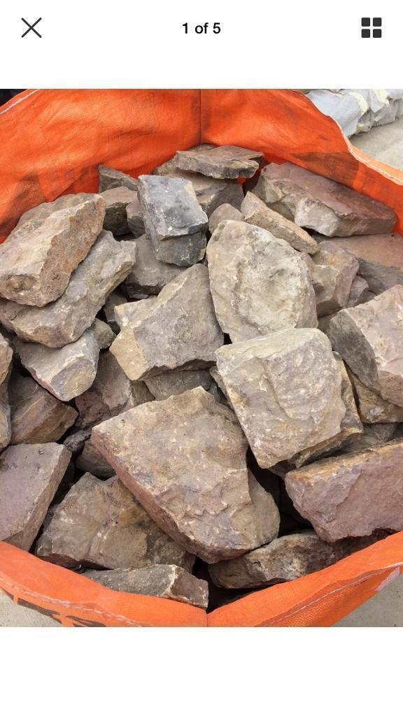 Reclaimed garden walling dry stone walling