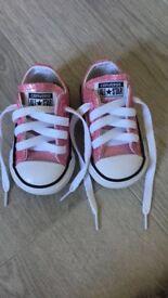 Brand new pink glitter converse