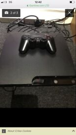 PS3 black slim good con all in working order first to see will buy!£40.. comes with 5 games