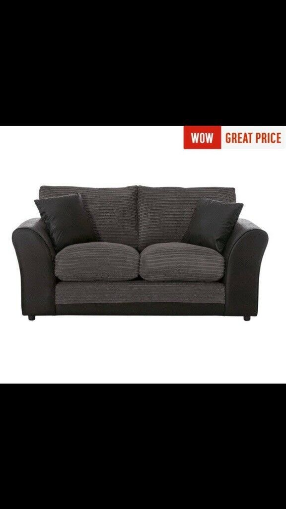 Harley 2 Seater Fabric Sofa Charcoal Collection Only Crystal Palace Original Price