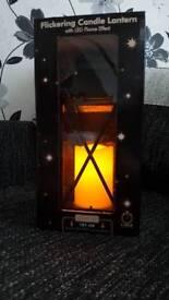 Flickering candle lantern