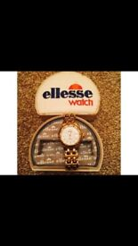 Ellesse Men's Sports Watch in Gold 200 Metre Water Resistant Stainless Steel With box retro vintage?