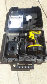 Dewalt Drill 18V, hammer drill driver. 2 x 1.3AH batteries and charger. Good condition.