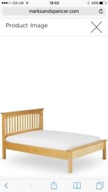 Solid wood double bed frame (Marks &Spencer)
