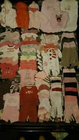 3-6 months girls clothes over 80 items