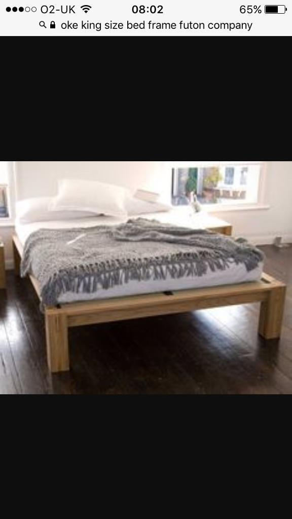 Oke Futon Company King Size Bed Frame Only