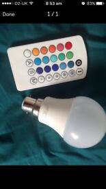 Colour changing light bulb