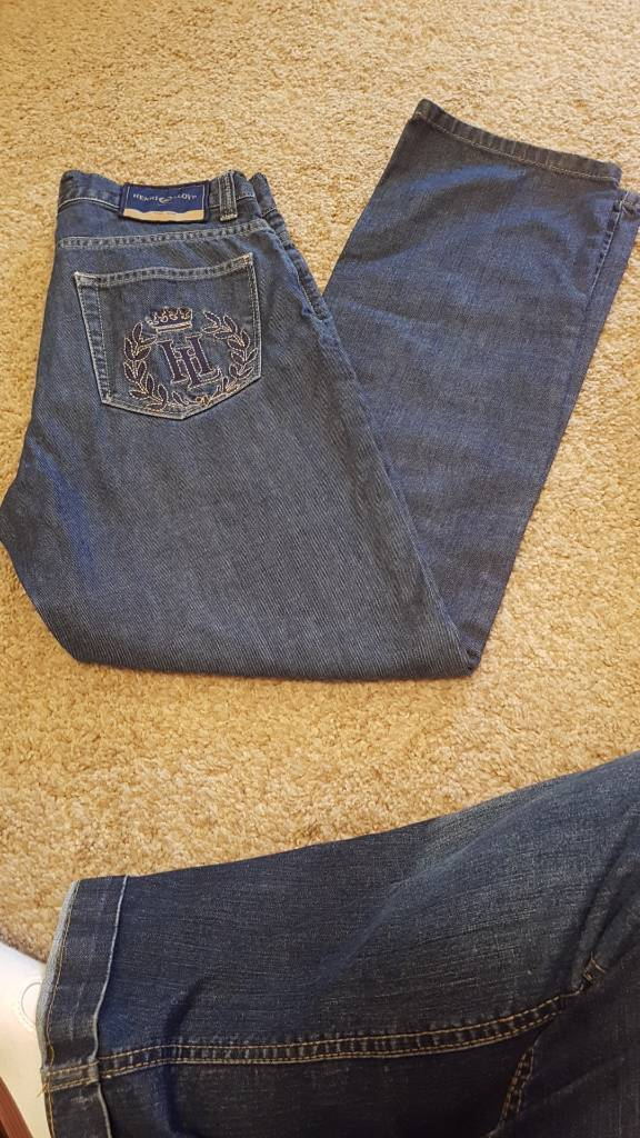 Mens boys Henri Lloyd button fly jeans size 30s new