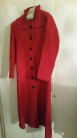 Ladies Red Long Coat (Size 10 X Small) - Brand New