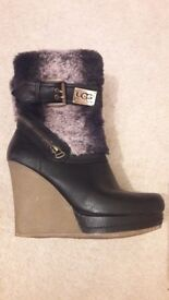 Size 3 wedge ugg boots