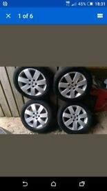 "Ford mondeo transit connect alloy wheels 16"" good tyres"